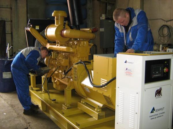 Обслуживание дизельных генераторных установок