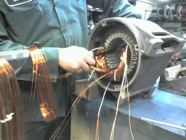 Ремонт электродвигателя переменного тока в СПб